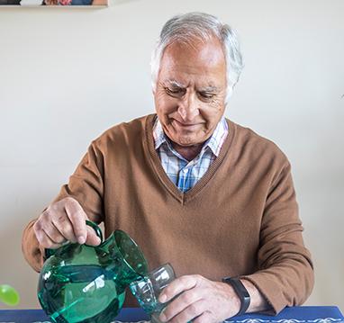 A Man With A Wearable Sensor